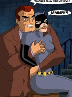 BTAS: Catwoman Gagged by Roland Daggett by TheOneAndOnlyCaptor