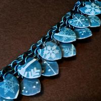 Blue Snowstorm Scalemaille Bracelet by Rosie-Periannath