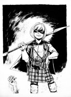 Sketch - Hit Girl by B3NN3TT