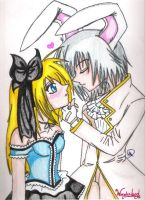 Alice and White Rabbit by xxpunkgrlxx