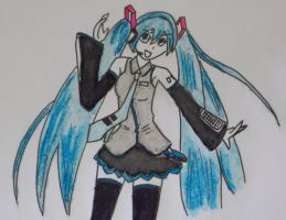 Hatsune Miku by bookworm0608