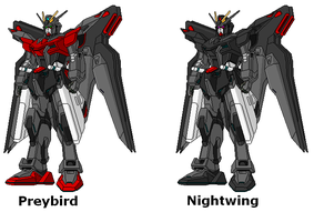 Preybird and Nightwing Gundams by SPARTAN-251