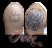 Eye of horus cover up by Neko2023