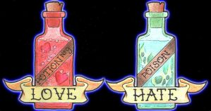 Love Potion, Poison Bottle by monkeydeathcult