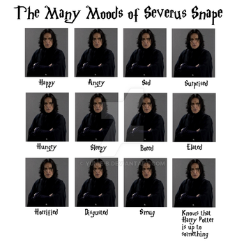 Snape's Many Moods by Yunie-B