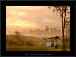 Morning At Camping Field by DonovanDennis