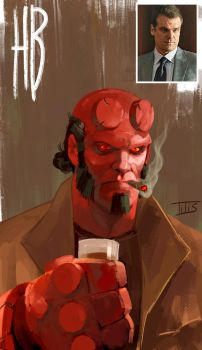 Just to see how he looks like...Hellboy by IttoOgamy
