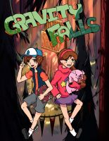 Gravity Falls: Mabel and Dipper by Kharnia