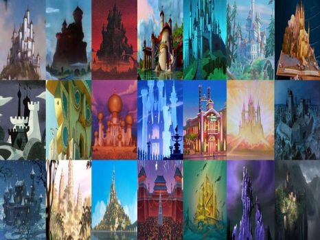 Disney Palaces and Castles in Movies Part 1 by dramamasks22