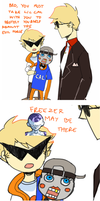 homestuck comic - dirk and his bro by LaWeyD
