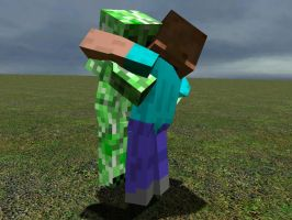 GMod Minecraft - Creeper hug by Tryzon