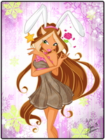 Flora New Year Bunny by florainbloom