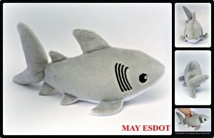 Great White Shark Beanie Plush by MayEsdot