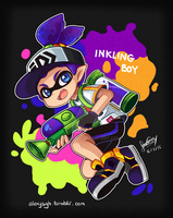 Splatoon - Inkling boy by SandraGH