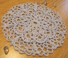 5 Inch Lacy Doily in Pale Blue, No. 79 by doilydeas