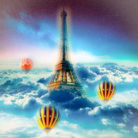 Eiffel tower on the sky by NatsukiHaru