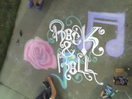 Rock and Roll Chalk by Kelly-Amber