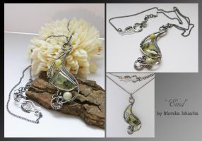 Enid- wire wrapped necklace by mea00