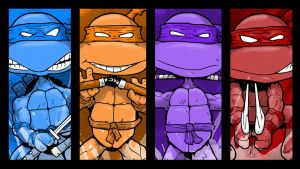 TMNT - Cowabunga Dudes by LRitchieART