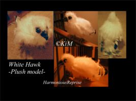 White Hawk -plush model- by HarmoniousReprise
