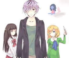 Garry and his lolis. by seahorsegurl
