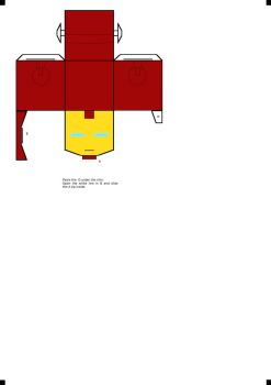 Iron Man Cubee Part 2 (helmet) by klebers