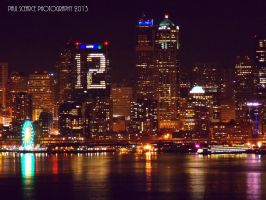 Seattle Waterfront At Night by SilentMobster42