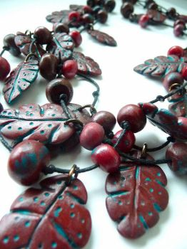 Fall Necklace by Citrus-Goldfish