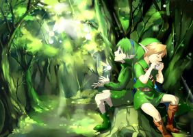 link and saria by muse-kr