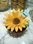 Sunflower Cupcake by Sliceofcake