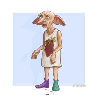 DH SPOILER - Dobby by Harry-Potter-Spain