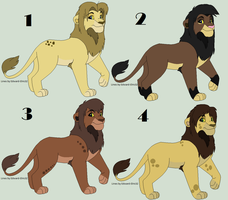 Adult Lion Adopts by Skylar-Adopts