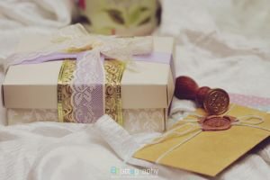 Lacey Ribbon Gift Box II by whocaresme