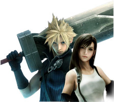 Cloud and Tifa render by KatalunaEternity
