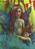 Two Fairies by LeslieEvans