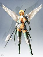 Angelic Halberdier by JessicaElwood
