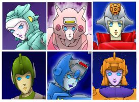 Female Autobots mp by OmegaSupreme