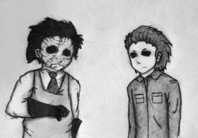 Michael and Leatherface by AlexAngelPrince