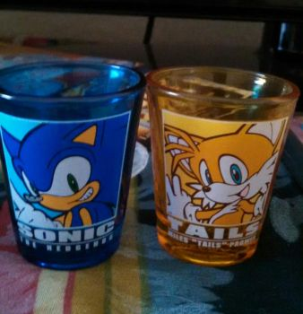 Sonic and Tails cup by Xdmario