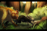 Early Hunting Lesson by Falkarth