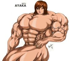 Super Muscled Girl Ayaka by MarianGTS