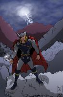 Thor in the Ruins of Asgard by IMForeman