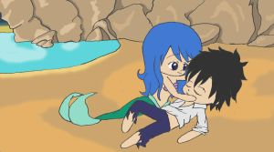 The Little Mermaid: Juvia and Gray by Vikkixox