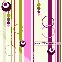 Colorful Retro Background Vector by 123freevectors