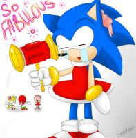 Sonic Is Being Fabulous by SonicForTheWin2