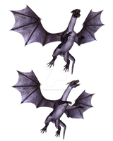 Purple Dragons PNG Exclusive by CelticStrm-Stock by CelticStrm-Stock