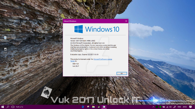 Windows 10 Insider Preview Build 14986 by Loccosa
