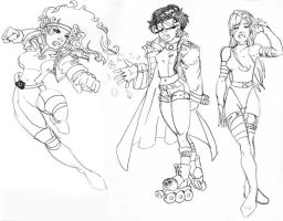 Cartoon X Men females by jetcomics