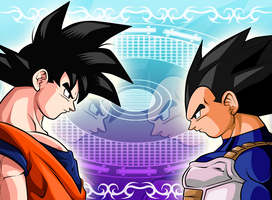 Random: Goku and Vegeta by wLadyB91