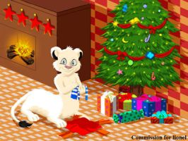 COM : Lionel in Christmas Time by whiteguardian